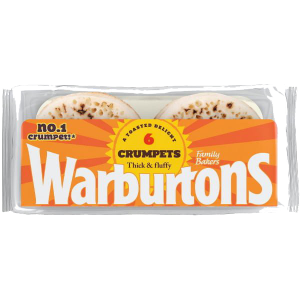 Warburtons Crumpets 6 Pack