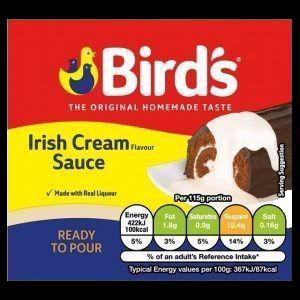 Bird's Irish Cream Sauce